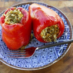 simple stuffed capsicums