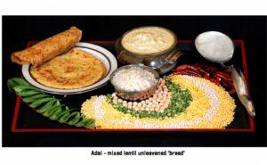 Adai mixed lentil unleavened 'bread'
