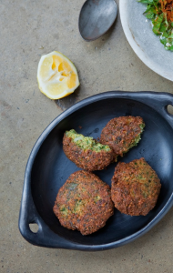 kabuli chickpeas-falafel with yogurt-Simon Bryant - credit Jacqui Way Photography & dirt(y) inc