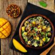quinoa lentil salad with mango vegan and vegetarian