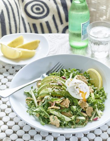 a delicious twist on traditional breakfast recipes, this gluten free breakfast salad can be enjoyed any time of day