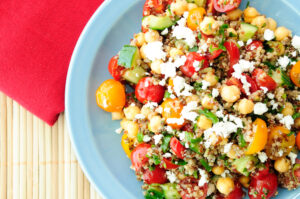 a quick and easy gluten free lunch recipe with white beans and quinoa