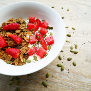 easy and quick sultana bran breakfast bowl for the kids
