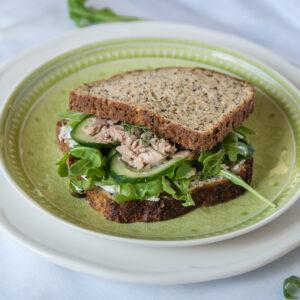 Posh Salmon & Cream Cheese Sandwiches