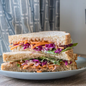 Tuna & Rainbow Slaw Sandwich