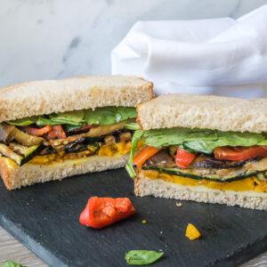 Vegetarian Antipasti & Cheese Sandwich