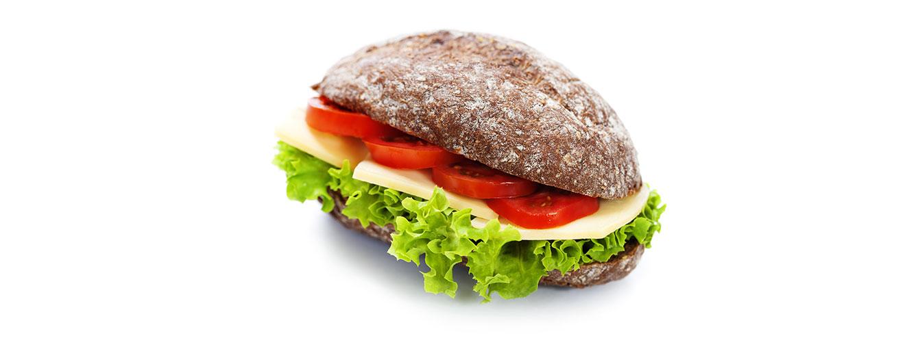 Enjoy grain foods 3-4 times a day, choosing at least half as whole grain or high fibre