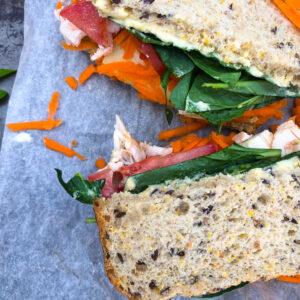 Loaded Salad Sandwich