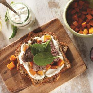 Lamb, Pumpkin & Minted Yoghurt Sandwich