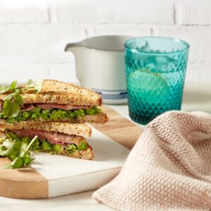 Roast Lamb Toastie with Crushed Minty Peas