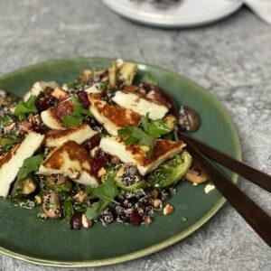 Halloumi & Cranberry Quinoa Salad
