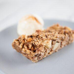 Apple & Walnut Baked Oatmeal Bars