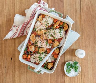 One-Pot Dinner Fish Bake