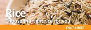 Rice - choosing the right rice for you
