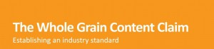 Whole grain content claim for dietitians
